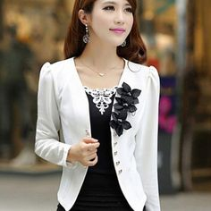 074cf71c31676 New blazer female 2017 slim outerwear blazer elegant spring autumn  outerwear coat plus size women ladies jacket clothes-in Blazers from Women s  Clothing ...