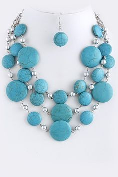 Becca Necklace in Turquoise Howlite