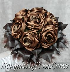 Brown Bouquet, Brown Bridal Bouquet, Brown Wedding Bouquet