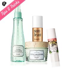 Want a healthy glow? Fall weather robbed you of natural pigment? Fake it with a dewy radiant complexion from these fab four. #tipsandtricks #benefitcosmetics