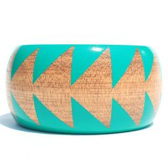 Running Arrow Bangle Turquoise now featured on Fab.