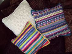 Trio of cushions