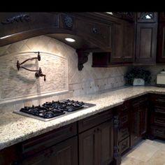 Beautiful kitchen backsplash with dark cabinets decor ideas (15)