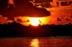 Sunrise at Semporna, Sabah Borneo.