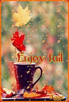 Enjoy Fall coffee animated autumn morning fall good morning good morning greeting good morning comment