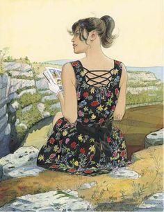 Jean-Pierre Gibrat (woman reading)