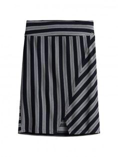 Sandwich fashion Fall '16 - Skirt with strips- Blue Nights