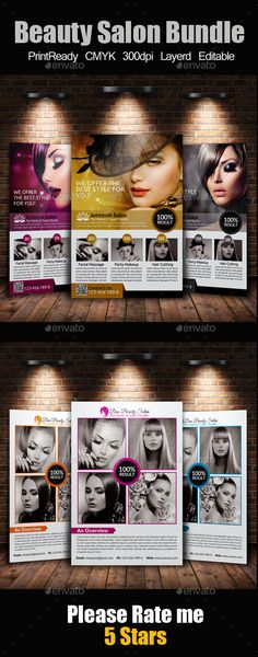 A4 Beauty Salon Flyer Bundle - Events Flyers