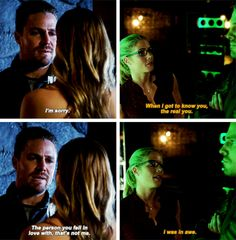#Arrow 5x02|5x08 - Felicity has always been able to see the real him... #OliverQueen #FelicitySmoak #Olicity