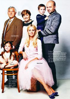 DOLLY worn by celeb Maria Cirova in glossy Magazine EMMA. DOLLY worn by famous celeb slovak singer and mother Maria Čírová with her family for magazine EMMA ( Slovakia). GORGEOUS! Featured items by DOLLY by Le Petit Tom ® : Ruffled chiffon dance dress , glitter pettiskirt, Pearled up Cardigan, Romantic long tutu, LA DOLLY Princess dress in offwhite / gold  and ballerina shoes Long Tutu, Chiffon Ruffle, Ballerina Shoes, Dance Dresses, Knitwear, Cashmere, Toms, Pearl, Glitter