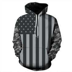 Skateboarding Hoodies 2017 New Men 3D Print Black and white American flag Women Couple Autumn Plus Size
