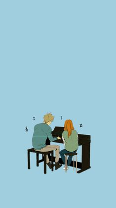 Hong seol, baek in ho, playing piano Cheese In The Trap Kdrama, Cheese In The Trap Webtoon, Korean Art, Korean Drama, Chibi, Trap Art, The Kingdom Of Magic, Playing Piano, Manga Couple