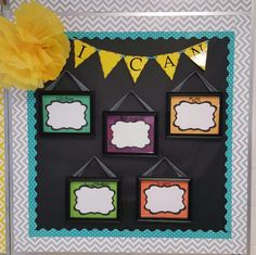 """""""I Can"""" statement board for any classroom. I have recieved many compliments on this board and it works great to display my objectives with keeping my room modern and fresh! Grade 8 Classroom, Kindergarten Classroom Decor, Disney Classroom, Superhero Classroom, Classroom Setup, Classroom Design, Future Classroom, School Classroom, Classroom Organization"""