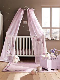 Ciel de lit thème fleurs Vertbaudet
