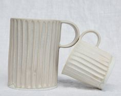 Handmade Column mugs from Mt Washington Pottery in LA | Remodelista