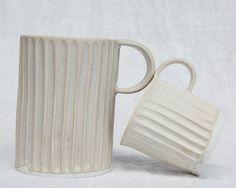 Handmade Column mugs from Mt Washington Pottery in LA | Remodelista