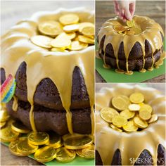 A Festive St. Patrick's Day Cake   Finding a pot overflowing with gold coins will be completely possible this St. Patrick's Day...