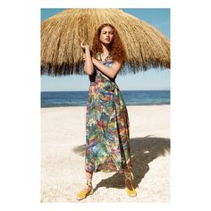 Long tropical dress  Chiringuito collection New Week, Summer Beach, Beachwear, The Past, Tropical, Bohemian, How To Wear, Wedding, Outfits
