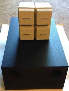 Bose Acoustimass 5 Series Speakers White Passive Subwoofer LifeStyle AM5 Tweeter #Bose