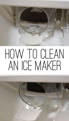 How to clean an Ice Maker. Never knew you had to clean this!