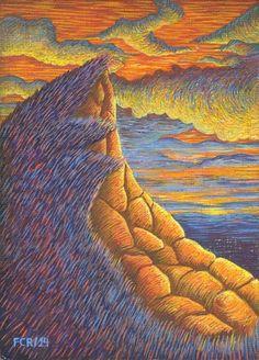 Felipe Camargo Rojas/ El silencio del crepúsculo. La persistencia de la espiritualidad/ Temple puro sobre tela preparada a la creta encolada en madera/ 14 x 10 cm/ 2014