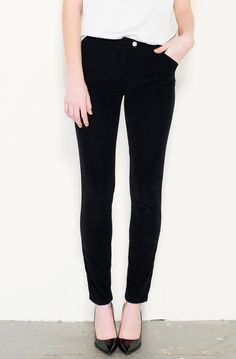 A pair of well fitted black pants - skinny, bootleg, tailored, wide leg - whatever suits you best.