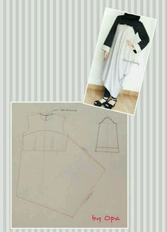 Looks easy to do Dress Making Patterns, Easy Sewing Patterns, Clothing Patterns, Sewing Tutorials, Pattern Cutting, Pattern Making, Batik Dress, Old T Shirts, Pattern Drafting