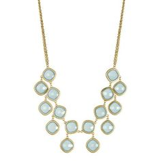 Queen St. blue and gold necklace