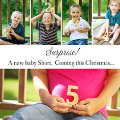 Such a cute way to announce a pregnancy and addition to the family ~ Sarah, Short Stop Blog