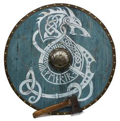 Epic Viking Shield - Space Wolves - Welcome Haar Design Vikings Art, Nordic Vikings, Viking Tattoo Meaning, Viking Tattoos, Viking Shield Design, Escudo Viking, Viking Armor, Viking Sheild, Viking Dragon