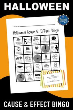 Practice cause and effect with a fall and Halloween-themed bingo game! During the game, a cause is read aloud, and students cover the matching effect if it is on their card. A follow-up assessment is also included. Great October fun! Halloween Bingo, Halloween Activities, Halloween Themes, Bingo Games For Kids, Learning Games For Kids, Cause And Effect Activities, Blank Bingo Cards, Calling Cards, Word Pictures