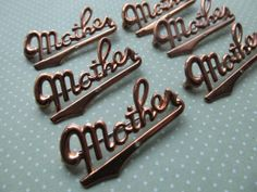 2 Vintage Gold Tone Mother Pins