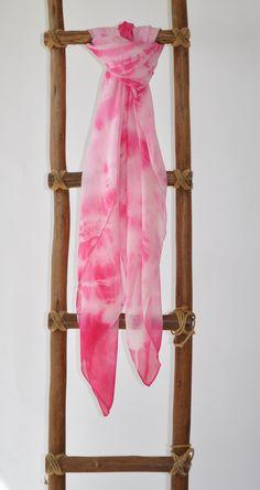 "LiliKai tye dyed silk chiffon wrap 42""x72"" Very versatile - wear it like a dress..scarf...sarong..."