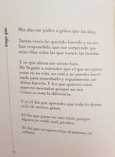 Patricia Benito Poem Quotes, Sad Quotes, Motivational Quotes, Life Quotes, Cute Texts, Life Words, More Than Words, Favorite Quotes, How To Memorize Things