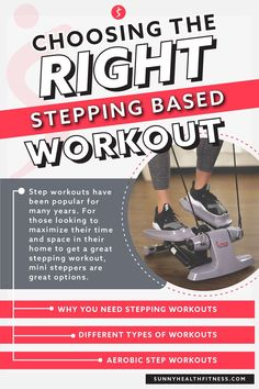 For those looking to maximize their time and space in their home to get a great stepping workout, mini steppers are great options. But which kind should you get? There are a few options to choose from when looking at mini steppers to help you meet your goals. Each have differences to consider. #sunnyhealthfitness #steppingworkout #stepworkout #ministepper #stepmachine #steppermachine Health And Fitness Articles, You Fitness, Health And Wellness, Health Fitness, Stepper Workout, Dumbbell Workout, Workout List, Major Muscles, Feel Tired