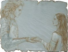 "Aegnor and Andreth - sketch by ekukanova on deviantART - Aegnor and Andreth Inspired by ""Athrabeth Finrod ah Andreth"" by Tolkien"