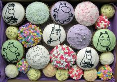 We love cupcakes! Moomin Shop, Love Cupcakes, Easter Eggs, Nom Nom, Baby Shower, Crafts, Party Ideas, Baking, Kids