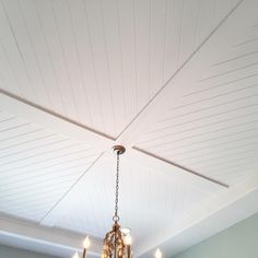 """Such a cool ceiling detail?  Where would you put this?  #homeshow #throwback"""