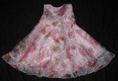Girls SUGAR PINK smocked flower print lined sundress 6-12m,12-18m /& 18-24m