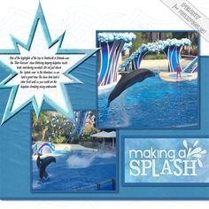 """Digital scrapbooking layout """"Star"""" using a new pixels2Pages Blueprint (page template) and digital content from Creative Memories, available at the Panstoria store. Photos of SeaWorld in Orlando by Penny Peterson."""