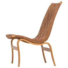 Bruno Mathsson Easy Chair, Model Eva by Karl Mathsson in Sweden | From a unique collection of antique and modern lounge chairs at https://www.1stdibs.com/furniture/seating/lounge-chairs/