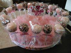 Birthday Princess Cake Pops