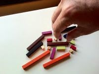 "Teach foreign languages with Cuisenaire Rods by Phillip Towndrow ""My students always liked the look and feel of the rods and many were also inclined to smell or lick them as if they were exotically packaged sweets. """