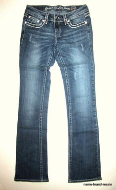 $165 Rich/&Skinny Bright Teal Blue Color Slim Boot Straight Jeans X-Long 26 NWT
