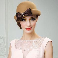 delikatna wełna kobieta na zewnątrz / specjalna okazja / co dzień / ślub / strona kapelusz z bowknot (więcej kolorów) – EUR € 21.32