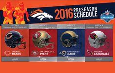 Denver Broncos   2016 Schedule