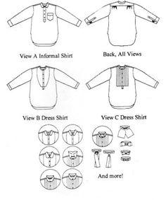 Mens Victorian & Edwardian Shirts