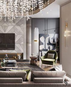 Best interiors of Studia 54 - portfolio Italian Interior Design, Showroom Interior Design, Luxury Homes Interior, Luxury Home Decor, Glass House Design, Home Design Living Room, Living Room Decor Inspiration, Casa Real, Aesthetic Room Decor