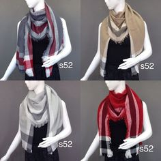 4 Color Woman Lady Winter Neck Warm Knitted Plaid Scarf Gift Event Trendy Soft #scarf #Winter #Warmer #Knit #gift #fashion #sharp #stylish #style #event #lovely #warm #Cute #pretty #beauty #woman #women #fashionable #holidays #scarves #neck #neckwarmer #plaid #trendy #soft #comfy