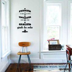 Vinilo decorativo Frase El pesimista se queja del viento; el optimista espera que cambie; el realista ajusta las velas | W. George Ward